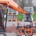 Laying bricks by machine